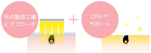 皮膚に存在する黒いメラニン色素に光を反応