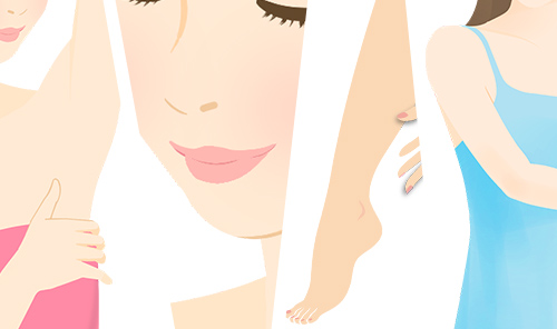 ワキ・鼻の下・腕・脚など無数に生えてくるムダ毛